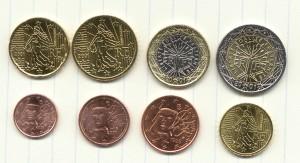 euros coins all